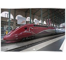 Thalys Unit 4322 at Gare Du Nord station in Paris France Poster