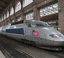 SNCF Voyager at Gare Du Nord Station in Paris, France. by Keith Larby