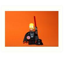 Homer Simpson Darth Vader Art Print