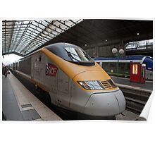 SNCF TGV 3313 at Gare Du Nord Station in Paris, France. Poster