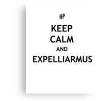 Keep Calm and Expelliarmus Canvas Print