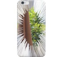 Silver spike circle iPhone Case/Skin