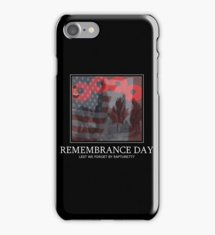 † ❤ † ❤ † ❤ † REMEMBRANCE DAY LEST WE FORGET † ❤ † ❤ † ❤ † iPhone Case/Skin