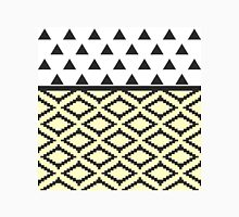 Black, Yellow, & White Triangles and Tribal Shape Classic T-Shirt