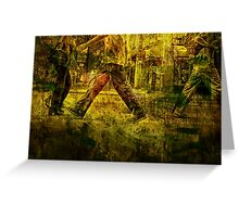 Pedestrians On the Move No.1 Greeting Card
