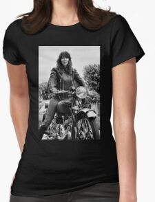 Girl on a Motorcycle Womens Fitted T-Shirt