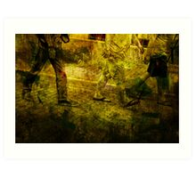 Pedestrians On the Move No.5 Art Print