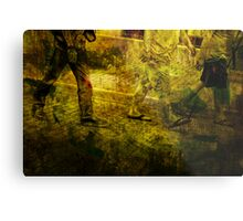 Pedestrians On the Move No.5 Metal Print