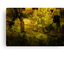 Pedestrians On the Move No.5 Canvas Print