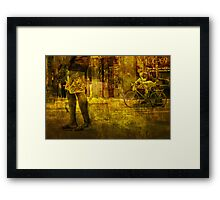 Bicyclist and Pedestrians No.9 Framed Print