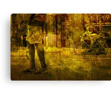 Bicyclist and Pedestrians No.9 Canvas Print