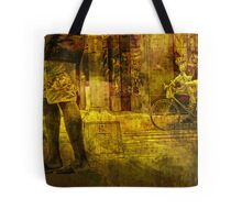 Bicyclist and Pedestrians No.9 Tote Bag