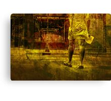 Pedestrian On the Move No.8 Canvas Print