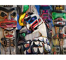 Totem Poles in the Pacific Northwest Photographic Print