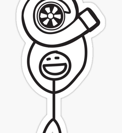 Turbo Guy Sticker