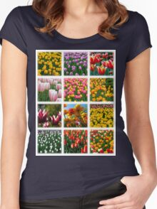 Tulips Montage 1 Women's Fitted Scoop T-Shirt