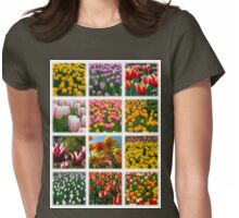 Tulips Montage 1 Womens Fitted T-Shirt