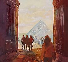 Evening at the Louvre by JennyArmitage