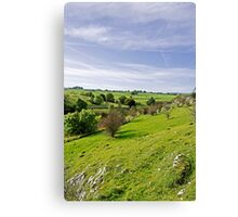 Lathkill Dale and Fern Dale to Monyash  Canvas Print