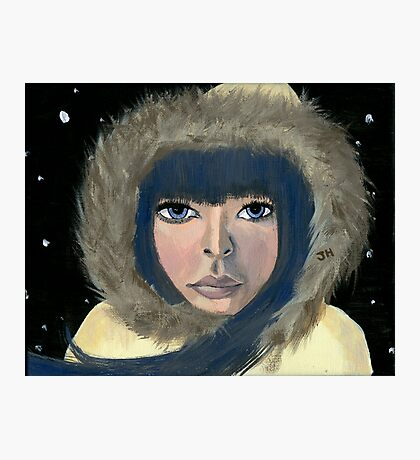 Woman in Winter Photographic Print