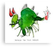 Patrick the timid dragon Canvas Print