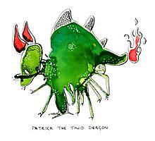 Patrick the timid dragon Photographic Print