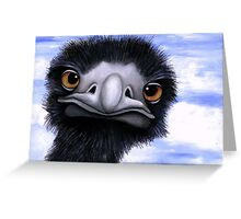 Nosy Emu (6660 viewings as at 15th June 2012) Acrylic painting Greeting Card