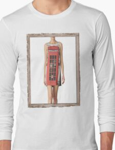London print - Fashion (telephone box) Long Sleeve T-Shirt