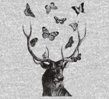 The Stag & Butterflies - Black & White Kids Clothes