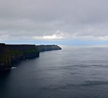 Climbing The Cliffs Of Moher, She Found Herself Floating On A Ribbon Of Baby Blue... by Ainsley Kellar Creations