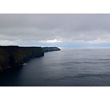 Climbing The Cliffs Of Moher, She Found Herself Floating On A Ribbon Of Baby Blue... Photographic Print