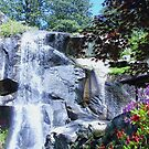 waterfall at springtime by ANNABEL   S. ALENTON