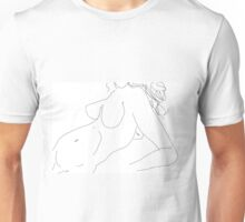 Female Nude -(080214)- Digital artwork/MS paint Unisex T-Shirt