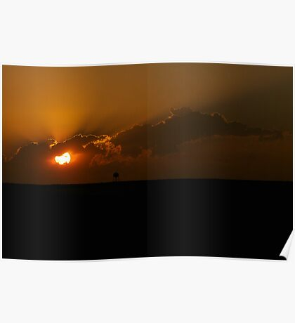 Sunset on the Plains Poster
