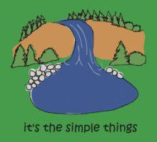 Simple Things - Waterfall Kids Tee