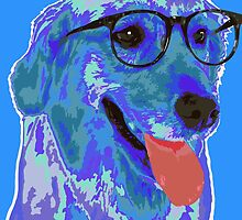 Hipster Dog by Katarinaamaria
