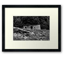 Shed Disaster Framed Print