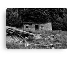 Shed Disaster Canvas Print
