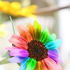 Rainbow Sunflower iPhone Case by WDaRos714