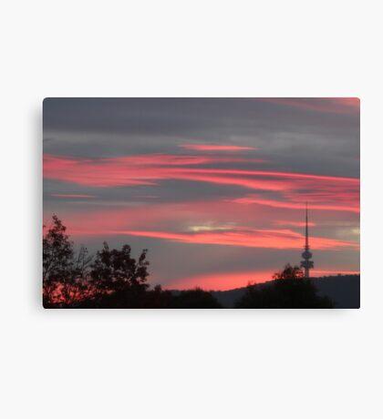 Capital Sunset Canvas Print