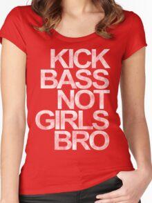 Kick Bass Not Girls Bro Women's Fitted Scoop T-Shirt