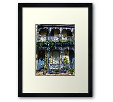 Iron Lace in Blue Framed Print
