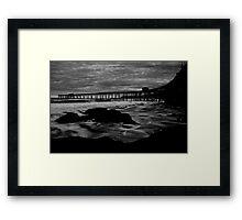 Catho Jetty B/W Framed Print