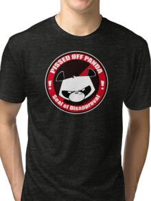 Pissed OFF Panda Seal of Disapproval Tri-blend T-Shirt