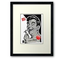 Close shave Framed Print