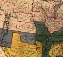 Civil War Era Map of the United States (January 1864) Sticker