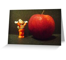 Wow, an apple to nibble! Greeting Card