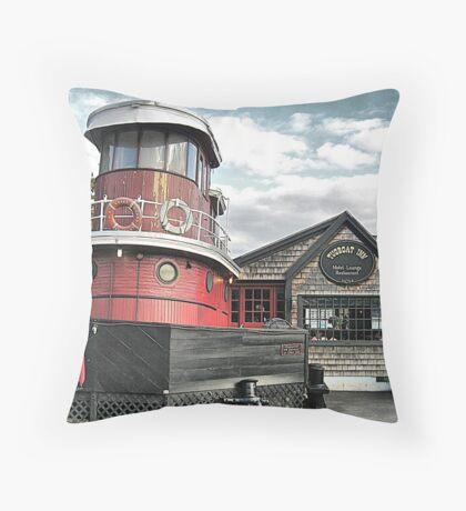 Tugboat Repurposed Throw Pillow