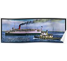 SS Olympic and Tug Poster