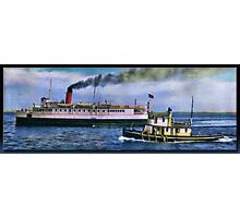 SS Olympic and Tug Photographic Print